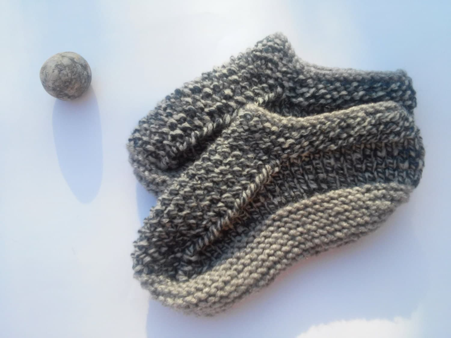 Mens Slippers Knitting Pattern : Men Slippers/ Knitted Slippers/ Hand Knit Warm by NataNatastudio