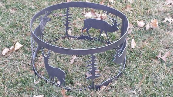 CNC Deer and Elk Fire Ring