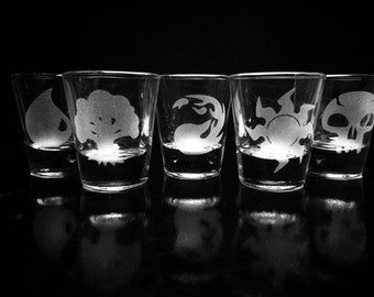 Magic the Gathering Mana Symbols Shot Glasses - Set of 5