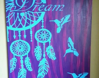 Painted dream catcher