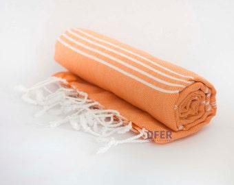 Peshtemal Beach Towel Orange