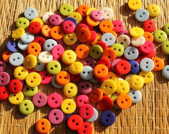 10 pcs - Multicolored buttons 9 mm