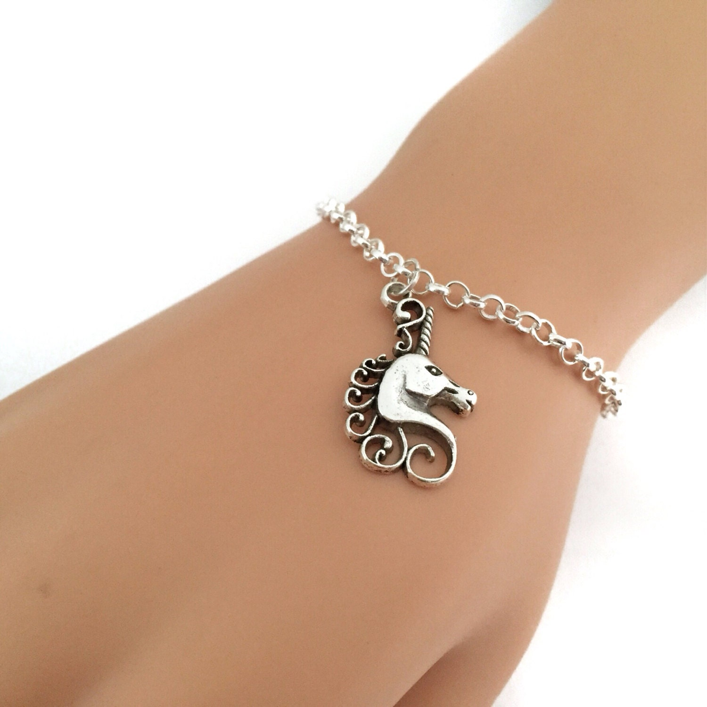 Design Your Own Custom Bangle Charm Bracelet Pick Your Charms: Silver Unicorn Bracelet Customizable Charm Bracelet/Anklet