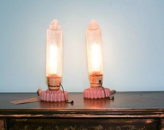 Vintage Pair of Art Deco Bedside Lamps