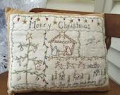 Hand Embroidered Christmas Season Decorative Pillow