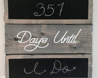 Wood Count Down Calendar Sign