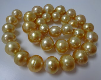11-14mm Dark Golden South Sea Pearl Necklace