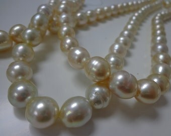 10-12mm Light Gold South Sea Pearl Necklace