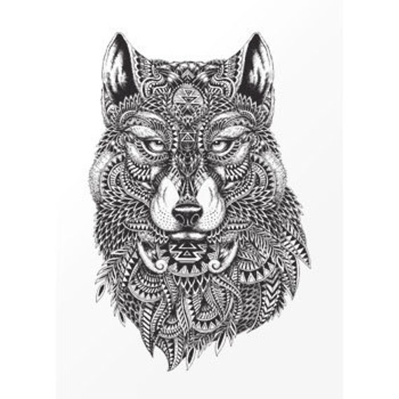 "Tattoo temporary ""Wolf"""