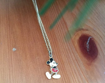 Mickey Mouse Necklace Small Vintage Necklace Disney
