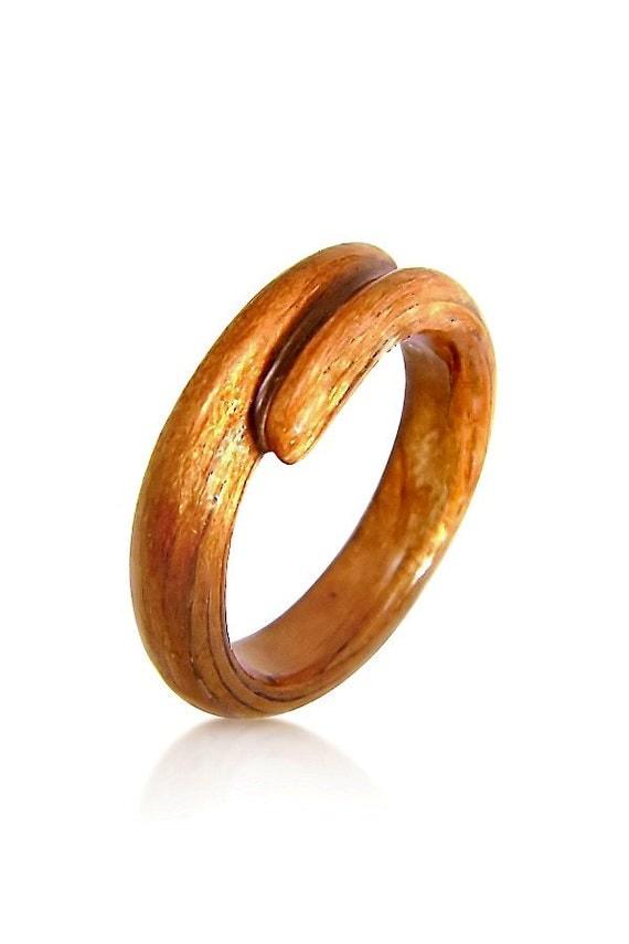 carved cherry ring wood ring wood jewelry rings