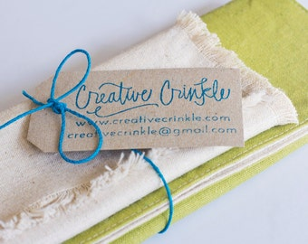 Green Placemat and Napkin Set - Hemp and Organic Cotton Table Linen - Eco-friendly Table Linen