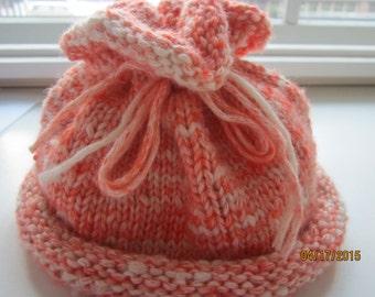 Infants Hat   size 12 mostangerine denim look hat with floppy top    machine wash, dry flat   70% cotton