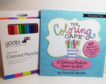 The Coloring Cafe Book For Grown Up Girls Volume Two Adults