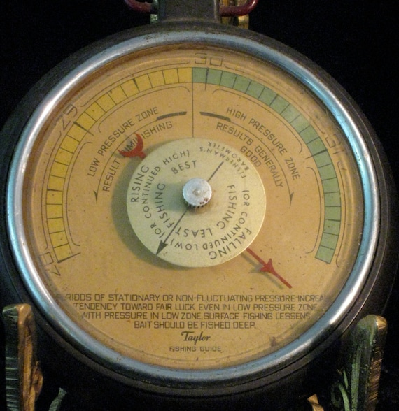 Taylor fishing guide barometer for Barometer and fishing