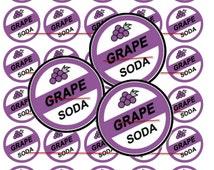 30 Precut 1 Inch Circle Disney's Movie UP - Grape SODA Bottle Cap Images for Pendants, Hair Bow Centers S179