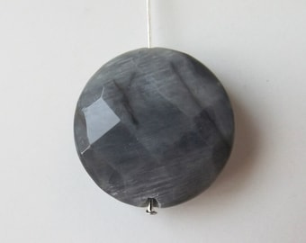 Natural Cat's Eye faceted  pendant bead ( #J1333)