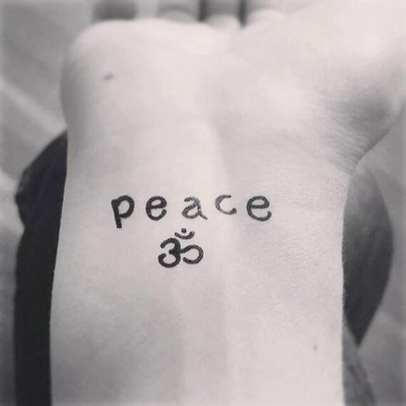 Tattoo Designs Peace: Temporary Tattoo Peace OM Yoga Tattoo Art Yoga Tattoo