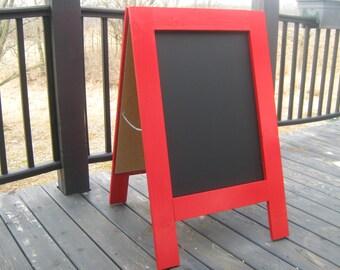 Two sided chalkboard sandwich board business sign handmade custom double sided sidewalk chalkboard A frame wedding menu chalk board