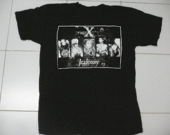vintage90s X-Japan tshirt jealousy album visual kei size medium very rare