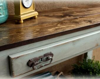 3' Farmhouse Console Table / Media table / Sofa Table / Rustic Console table