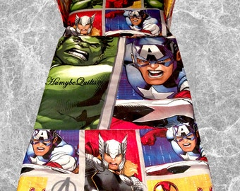 NEW Marvel Avengers Cot BEDDING SET - Spiderman Hulk - Exclusive