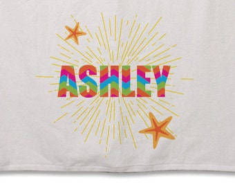 Beach Towel // Personalized Star Fish // 30inx60in