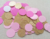 Pink and gold Confetti 240,first birthday,Blush Pink gold confetti,Pink wedding confetti,Pink Confetti,Hot pink confetti, pink table scatter