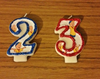Custom birthday candles,Number one candles, caillou, birthday candle, number candle