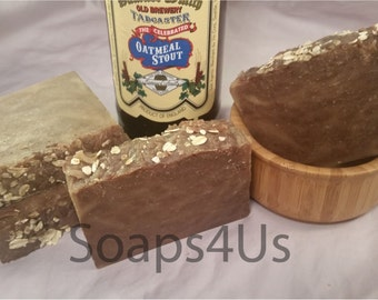 Oatmeal Stout Beer Handmade soap. Hot Process Soap. Men Soap. Great idea for gift!