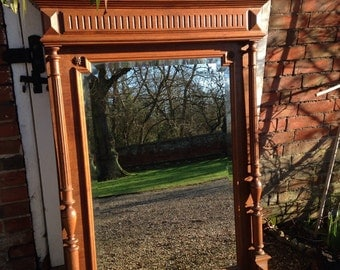Antique French Bevelled Trumeau/ Mirror