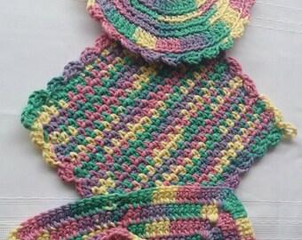 cotton crochet dish cloth,cotton pot holder,cotton trivet,crochet hot pad,crochet wash cloth,cotton pot holder,baby wash cloth,dish rag