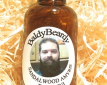 Sandalwood Amyris beard conditioning oil 30ml. Men's grooming oil for healthy strong soft moisturised hydrated beard growth and maintenance