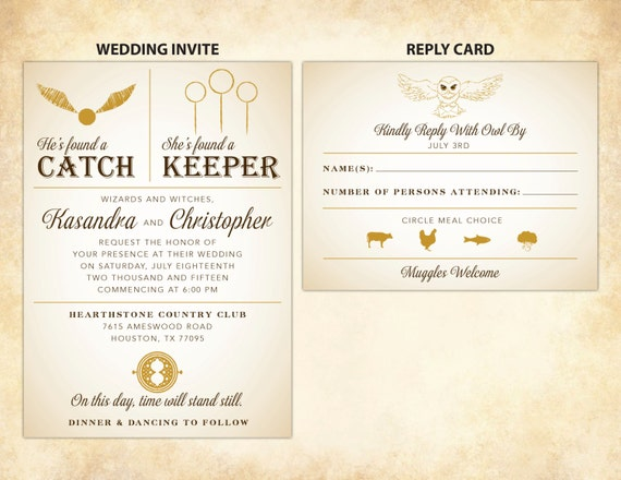 Bien-aimé Harry Potter Wedding Invitation DIY Printable PN85