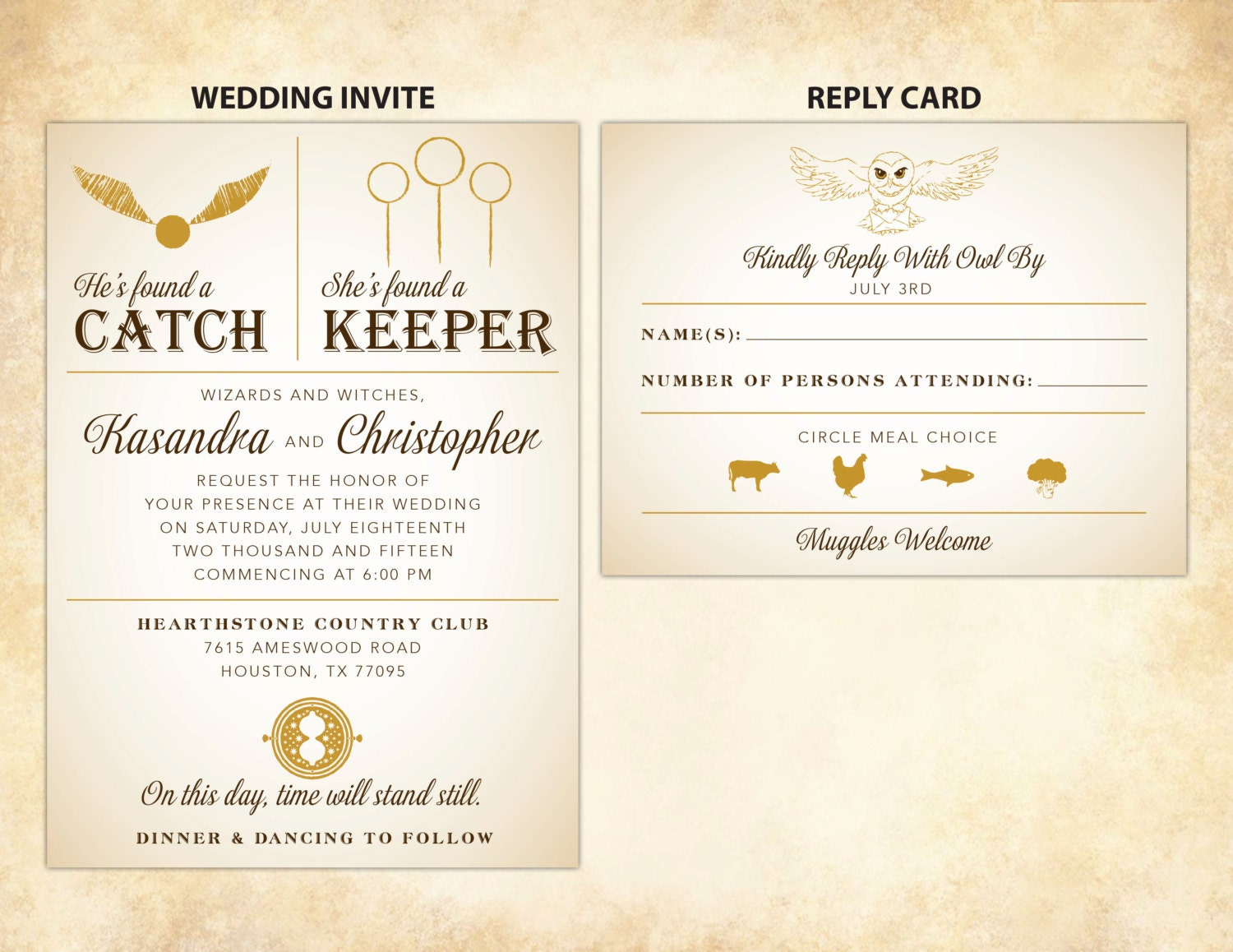 What Goes On A Wedding Invitation: Harry Potter Wedding Invitation DIY Printable