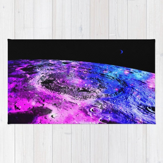 area rug pink purple blue black rug planet rug by 2sweetsgalaxy. Black Bedroom Furniture Sets. Home Design Ideas