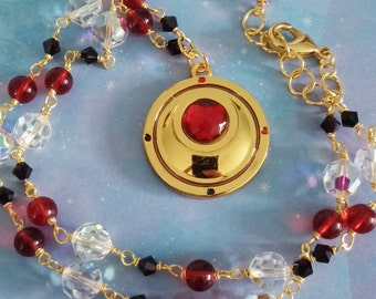 Sailor Moon necklace with red crystal