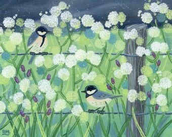 Giclee print - country birds - Limited edition fine art print
