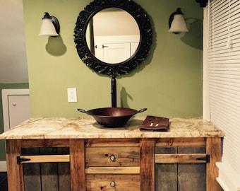 Bathroom Vanities Etsy barn wood vanity | etsy