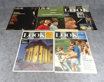Set of 5 Look Magazine Back Issues