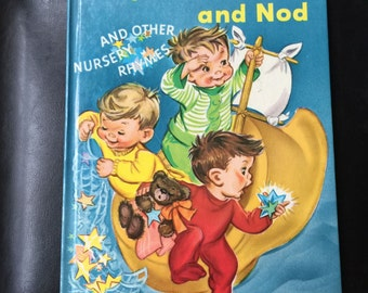 WYNKEN, BLYNKEN And NOD - Scarce Rand McNally Giant Book by Eugene Field Near Fine
