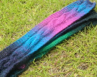 Colorful Cable Scarf