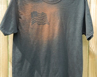 Customized United States Flag Bleach Shirt