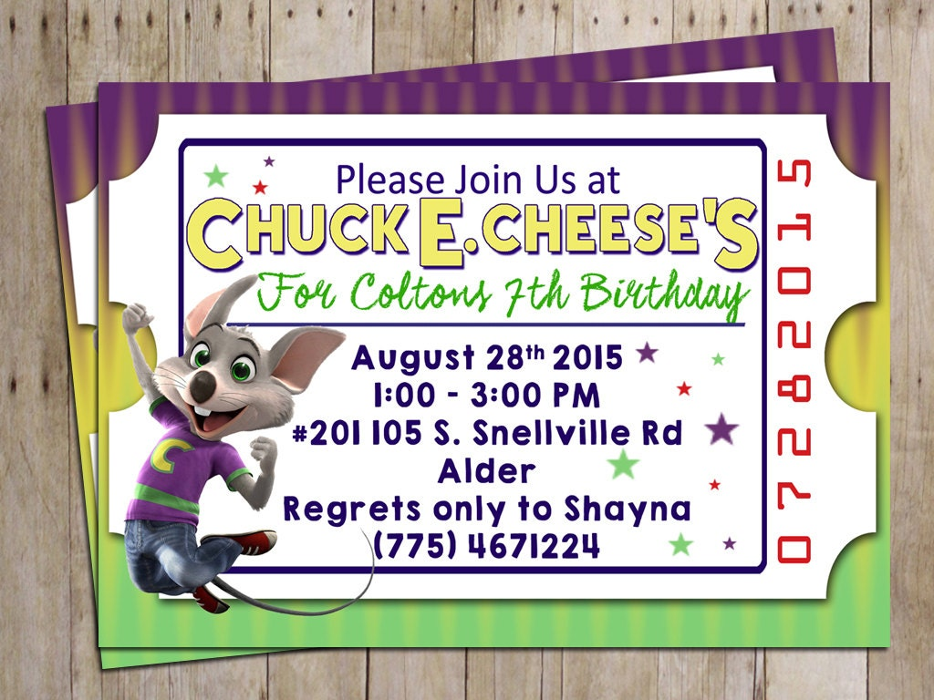 Chuck E Cheese Birthday Invitations is one of our best ideas you might choose for invitation design
