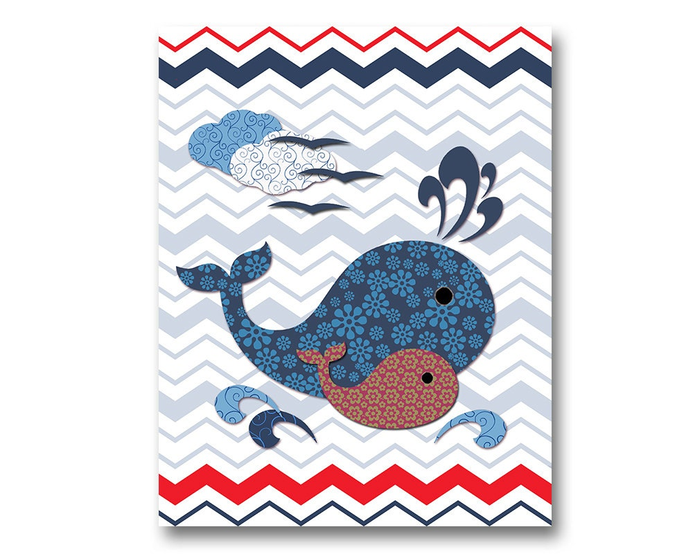 Nautical Bathroom Art Nursery Wall Decor Kids Room Artwork