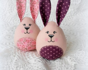 Handmade Easter Bunnies, Handmade Toys, Cloth Toy, Fabric Toys, Rag Toys.