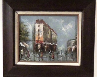 J. Dauph Signature Antique Oil Painting matted and Framed Impressionist