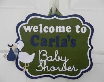 Baby Shower Welcome Door Sign