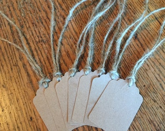 Kraft paper gift tags, paper tags, party favor tags, wedding favor tags, paper wine tags, kraft paper tag, twine gift tags
