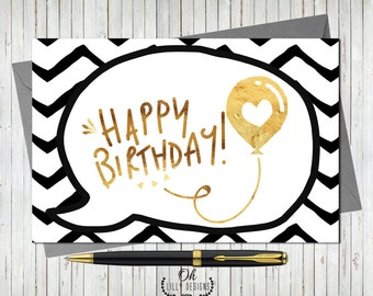 Happy Birthday Card - Instant Download, Birthday Card, Funny Birthday Card, Digital File
